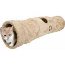 TRIXIE 43001 Тоннель для котов плюшевый бежевый 125*25