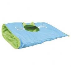 TRIXIE 43133 Игровой шуршащий мешок для кота 50*38 см синий с зеленым