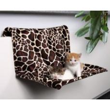 TRIXIE 43208 Гамак для котов подвесной плюш 48*26*30 жираф