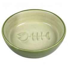 Trixie 24492 Миска керамическая для кошек с рыбкой 0,2 л 13 см