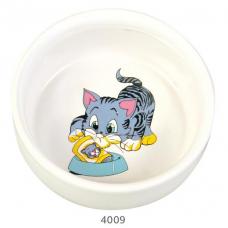 Купить Trixie 4009 Миска керамическая для кошек 0,3 л Фото 1 недорого с доставкой по Украине в интернет-магазине Майзоомаг