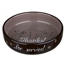 """Trixie 24795 Миска """"Thanks for Service"""" керамическая для персов 0,3 л 15 см"""