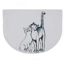 "Trixie 24540 Коврики под миску ""Pussycat""  40х30  см белый"