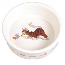 Купить Trixie 4007 Миска керамическая для кошек  0,2 л Фото 1 недорого с доставкой по Украине в интернет-магазине Майзоомаг