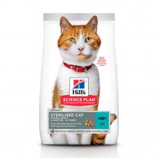 Купить HILL'S SCIENCE PLAN Young Adult Sterilised Cat Сухий Корм для Котів з Тунцем 300 г Фото 1 недорого с доставкой по Украине в интернет-магазине Майзоомаг