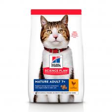 HILL'S SCIENCE PLAN Mature Adult Сухий Корм для Котів з Куркою 10 кг