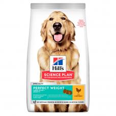 Купить HILL'S SCIENCE PLAN Adult Perfect Weight Large Breed Сухий Корм для Собак з Куркою - 12 кг  Фото 1 недорого с доставкой по Украине в интернет-магазине Майзоомаг