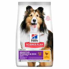 Купить HILL'S SCIENCE PLAN Adult Sensitive Stomach & Skin Medium Сухий Корм для Собак з Куркою 14 кг Фото 1 недорого с доставкой по Украине в интернет-магазине Майзоомаг