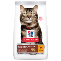 HILL'S SCIENCE PLAN Mature Adult Hairball & Indoor Сухий Корм для Котів з Куркою 1,5 кг