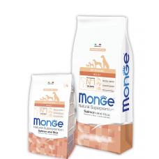 MONGE DOG All breeds Adult лосось с рисом - 15 кг