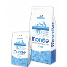 MONGE DOG All breeds Adult Light лосось с рисом - 2,5 кг