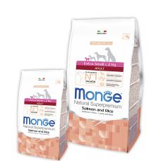 Купить MONGE DOG Extrasmall Adult лосось с рисом - 2,5 кг Фото 1 недорого с доставкой по Украине в интернет-магазине Майзоомаг