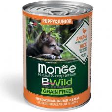 Купить MONGE DOG WET BWILD Puppy & Junior утка тыква цукини - 400 г Фото 1 недорого с доставкой по Украине в интернет-магазине Майзоомаг
