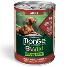 Купить MONGE DOG WET BWILD Adult ягненок тыква цукини - 400 г Фото 1 недорого с доставкой по Украине в интернет-магазине Майзоомаг