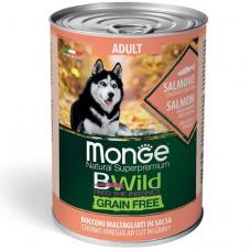 Купить MONGE DOG WET BWILD Adult лосось тыква цукини - 400 г Фото 1 недорого с доставкой по Украине в интернет-магазине Майзоомаг
