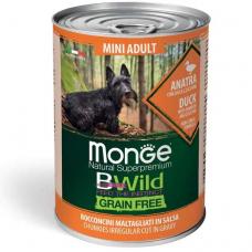 Купить MONGE DOG WET BWILD Mini Adult утка тыква цукини - 400 г Фото 1 недорого с доставкой по Украине в интернет-магазине Майзоомаг