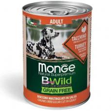 Купить MONGE DOG WET BWILD Adult индейка тыква цукини - 400 г Фото 1 недорого с доставкой по Украине в интернет-магазине Майзоомаг