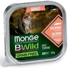 MONGE BWILD WET CAT Adult анчоус с овощами - 100 г