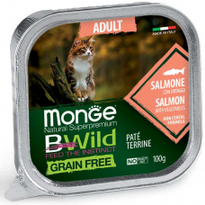 MONGE BWILD WET CAT Adult лосось с овощами - 100 г