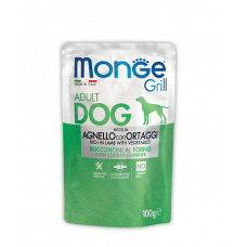 Купить MONGE DOG GRILL с ягненком и овощами - 100 г Фото 1 недорого с доставкой по Украине в интернет-магазине Майзоомаг