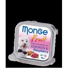Купить MONGE DOG FRUIT с курицей и малиной - 100 г Фото 1 недорого с доставкой по Украине в интернет-магазине Майзоомаг