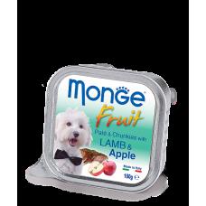 MONGE DOG FRUIT с ягненком и яблоком - 100 г