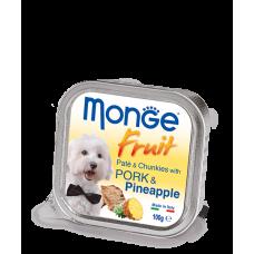 MONGE DOG FRUIT со свининой и ананасом - 100 г