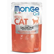Купить MONGE CAT GRILL Kitten лосось - 85 г Фото 1 недорого с доставкой по Украине в интернет-магазине Майзоомаг