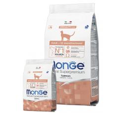 MONGE CAT Adult с лососем - 10 кг