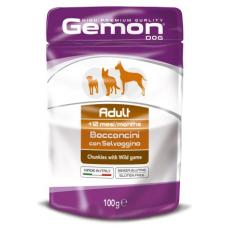 Купить GEMON DOG WET Adult кусочки с мясом диких животных - 100 г Фото 1 недорого с доставкой по Украине в интернет-магазине Майзоомаг