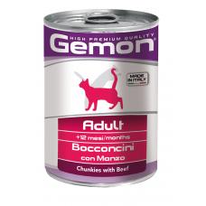 Купить GEMON CAT WET Adult говядина кусочки - 415 г Фото 1 недорого с доставкой по Украине в интернет-магазине Майзоомаг