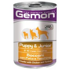Купить GEMON DOG WET Puppy & Junior кусочки с курицей и индейкой - 415 г Фото 1 недорого с доставкой по Украине в интернет-магазине Майзоомаг