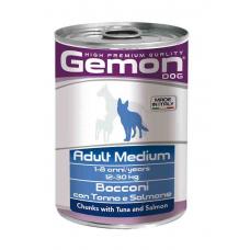 Купить GEMON DOG WET Medium Adult кусочки с тунцом и лососем - 415 г Фото 1 недорого с доставкой по Украине в интернет-магазине Майзоомаг